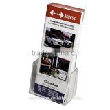 Clear-Ad - Clear Acrylic Brochure Holder - Slant Back tri fold Brochure Holder Display Stand (Single Pack)
