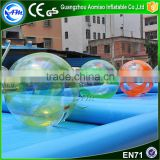 New design yellow and clear inflatable water walking ball,water running ball