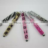 Beautiful bling stylus ball pen for touch screeen phone,ball pen with shiny stone decoration