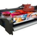 Flora UV hybrid flatbed and roll to roll printer PP2512UV Turbo with on 4 or 8 Konica 1024 print head