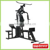 cheap hot sale semi-commercial 2 Station Home Gym with biceps bench and lat bar