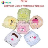 Babyland New Arrival Baby Cloth Diaper Nappy Cotton Bamboo Charcoal Diaper With Embroidery