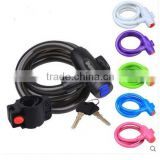 high quality colorful bike cable lock bike lock