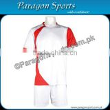 White and Red Soccer Uniform
