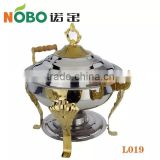 Stainless steel commercial food warmers with small capacity/small buffet stove