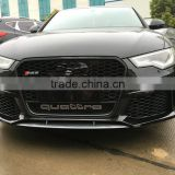 High quality PP material C7 RS6 style front bumper for 2013 years up Audi A6