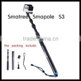 Smatree wholesale handheld selfie stick monopod high quality selfie pole stick for go pro,for action camera