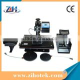 100% Economic 5 in 1 heat press,combo heat press machine 5 in 1,5 in 1 heat transfer machine