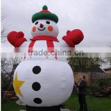 battery operated wedding party Christmas decoration glowing light up led lighted inflatable snow man light