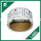 PRIVATE LABEL MANUFACTURING CUSTOM ROLL ADHESIVE LABEL, WATERPROOF SELF ADHESIVE PAPER LABEL