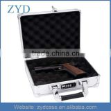 Metal Padded Hard Aluminum Locking Pistol or Camera Case, Gun Protective Case ZYD-HZMgc023