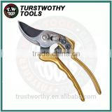 "Taiwan 6 1/2"" 170MM Light colorful SK5 PTFE blade aluminum Bypass pruning shear Garden Scissors"