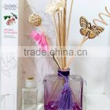 Pure Natural Aroma Flower Reed Diffuser With Glass Bottle,Carved Butterfly,Rattan Sticks For Home Decoration