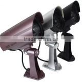 New Infrared LED Blinks Flashing Light Bullet CCTV DVR Surveillance IR Simulation Mock Fake Dummy Security Camera