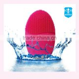 Portable waterproof color light silicone facial massager electric facial cleansing brush