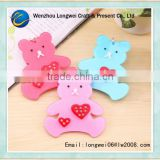 bear shaped metal split key ring/key ring plastic card holder/silicone key ring