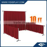Cheap trade show booth design with pipe&drape backdrop decoration