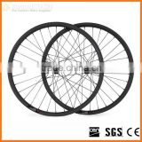 Carbon fiber mountain bike wheels 26er clincher bicycle carbon wheel with 25mm wide Novatec 32h/32h hub from China BAM26-25