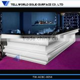L shaped beauty salon modern ready made bars counters
