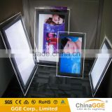 Ultra Thin LED Sign Pictures Frame Backlit LED Illuminated Sign Acrylic LED Frames Custom Light Box                                                                         Quality Choice