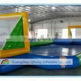 2016 Factory price outdoor inflatable water soap soccer field water sports games for sale