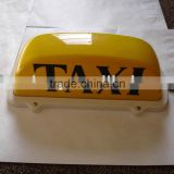 12v yellow black words auto taxi roof light