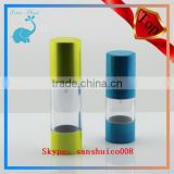 15ml 30ml PS material cosmetic airless bottle, 15ml 30ml water container 15ml 30ml cosmetic airless bottle