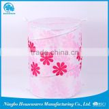new design polyester embroidered laundry bag with carrying strap