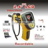 Portable Digital Industrial Video Endoscope and Borescope with recording 99G with 2.4 Inch TFT LCD Screen