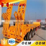 China manufacturer tri-axle air suspension drop deck low bed semi trailer                                                                         Quality Choice