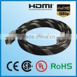 Wholesale Flat type Bulk HDMI Cable with Nylon net,support Customized Spec Products