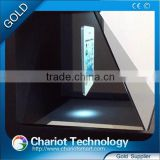 Hot! 10.4 inch 3d hologram advertising pyramid equipment with chape price on sale.