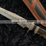 A ROSE WOOD HANDLE ANTIQUE HUNTER SHAPE BOWIE OUTDOOR HUNTING HIGH HARDNESS SURVIVAL BOWIE KNIFE
