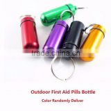 Outdoor Survival Waterproof Aluminum Medicine Bottles Mini Pocket Pill Bottle Box First Aid Kit EDC Gear Camping Equipment
