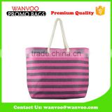 Cotton Tote Baby Diaper Travel Bag with Shoulder Strap