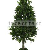 artificial topiary bay trees-natural trunk