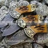 Damascus survival pakistan pocket knife survival tool