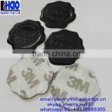 Black color aluminum wax seal sticker/metal logo embossed wax label/metal wax sticker for perfume