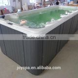 Hot sale 5.8m large rectangle acrylic outdoor swim spa with vinyl swimming pool covers JY8602