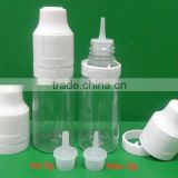 transparent and semi-transparent empty bottles (usual plastic bottle) for e-liquid or e-juice container