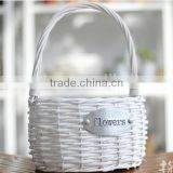 handmade plastic lined mini white wicker flower plant basket wicker decorative plant pots