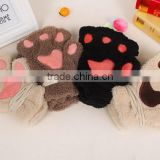 Lovely And Soft Warm Plush Animal Gloves With Various Designs