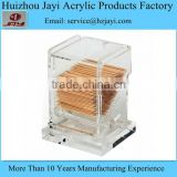 JYB-020China supplier wholesale acrylic automatic toothpick holder/toothpick holder/toothpick box
