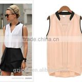 EXCLUSIVE Woman Blouses Sexy Sleeveless Chiffon Plus Size Ladies Blouses Casual Tops Clothing 2015 New Summer White Black