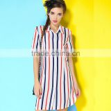 2015 Hot sale 100%cotton fabric casual dress tshirt dress