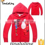 new boys red jackets with zipper fashion boys hoodies