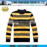 striped 2012 fashion men's t-shirt with black and yellow stripe