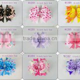 Various Boutique Hair Bow Girls Children Alligator Clip Ribbon Headbands Big Style 11.5CM Kids Bowknot Hairpin Hair tire