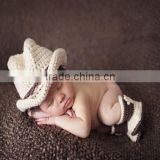 baby handmade cartoon hat shoe set baby 100% cotton knitted cap