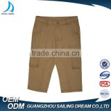 Wholesale latest design 100% cotton pocket square box cargo work pants european style fashion 3/4 men's short pants